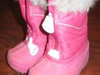 These cute little snow boots are a great addition to