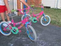 "Girls' twin ""Groovy Girl"" bikes! Bikes are pink with"