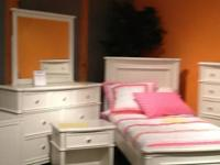 This is a girls bedroom group. It a a showroom sample.