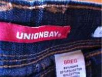 Girls union bay jeans size 8 reg. Never worn. My
