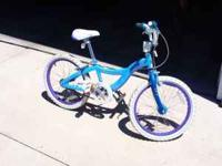 A girls schwinn bicycle, 20 inch tires, in great shape,