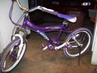 "For sale girls 20"" five speed bike in good condition"