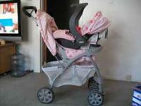 i have a really cute girly travel system, stroller and