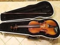 GLAESEL VI30E European Crafted Violin with Solid Spruce