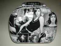 Black & White photo covered Case with silver plastic
