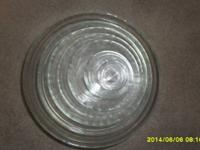 9 Piece Lys Stackable Bowl Set, Clear. Consists of the