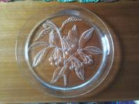 I have for sale a large French glass platter, inscribed