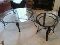 I've got a glass coffee table and end table that I have