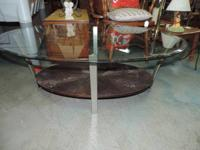 "Glass Coffee Table with shelf on bottom - 472. 48""w x"