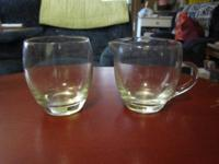 Nice, simple glass creamer and sugar set in great