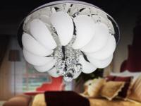 Glass & Crystal Built Modern Style 4-Light Round