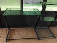 for sale, a glass desk for computer or to study~pls.
