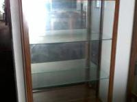 Glass display cabinet nice $200.00  Location: Galt
