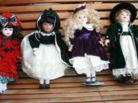 "Beautiful ""Brass Key"" glass dolls. All 4 for $20 Call"