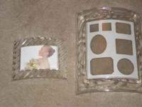 I have 2 glass picture frames available for sale. They