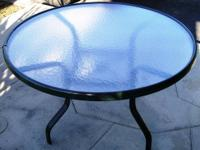 """Glass Round Display Table $125 41""""H x 39""""W x 29""""D"""