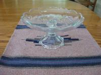 GLASS SERVING DISH ON A PEDESTAL It's great for serving