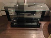 Glass table, great for a TV, almost new and great