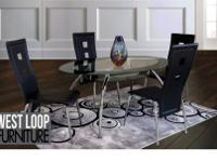 Beautiful glass table with glass bottom shelf. Set