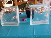"18 Square Glass Blocks 7.5""x 7.5"" x 4 --- $5.00 each or"