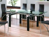 Fresh !!! modern, modern, stunning glass top dining