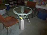 GLASS TOP END TABLES THESE REALLY STAND OUT $50.00 FOR