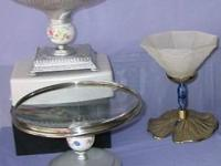 BOWLS or SERVING DISHES ON PEDESTALS - for serving