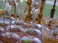 GLASS CANDEL HOLDERS $2.00 EACH can be seen at HAZEL
