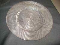 "glass plates ""servers"" ""chargers"" ( new) 13"" spiral"