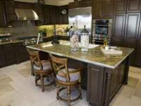 GLAZED WALNUT AND CHERRY KITCHEN CABINETS - $1895