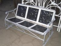 GLIDER antique PORCH OR YARD swing / rocking chair for