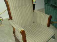 Nice glider with gliding foot rest for sale. Call or