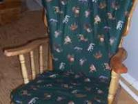 I have a glider/rocker chair for sale we reupholstered