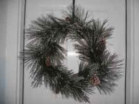 Glitter pine straw & pine cone Christmas Wreath! Asking