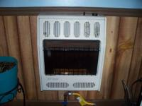 used glo/warm 20,000 BTU Natural-Gas blue flame Wall