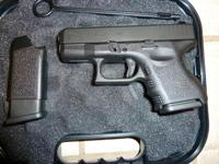 FOR SALE ARE TWO LIKE NEW GLOCKS, THE FIRST ONE IS A