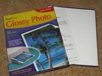 40 sheets 8.5x11 Glossy Photo Paper  here is a partial