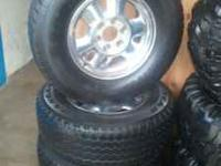 "selling oem 16"" rims and tires. tires size is 265/70/16"