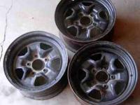 "GM and Oldsmobile Rims 3 14"" Olds Rims, seems to"