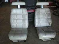 Bucket seats from a mid 70's Oldsmobile Cutlass. Will