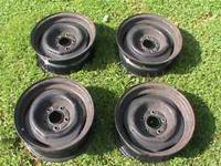 WE HAVE 2 COMPLETE SETS OF GM STEEL WHEELS THESE WERE