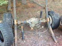 Front and rear end axles from 2000 GMC 1 ton 70,000