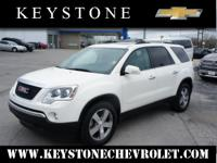 This white 2011 GMC Acadia SLT-1 is a keeper. This