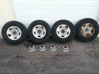 FOR SALE: **  8-LUG  16 IN. OEM STEEL RIMS & CENTER