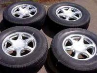 "GMC Denali 17"" Wheels & Tires . Tires low on tread, but"