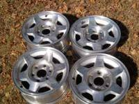 I have a set of four GMC Wheels. All four rimes are in