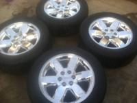 Collection of 4 launch oem rims and tires. rims in