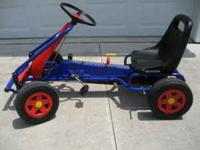 Pedal go-cart for sale - $35. This go-cart is in very