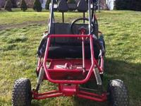 Dune-buggy style gokart, 2 seater with sholder harnes