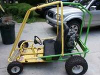 For sale is our go kart. 6hp Tecumseh. Runs great.